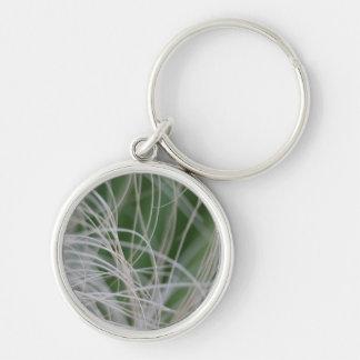 Imagen abstracta de hojas de palma verdes tropical llaveros personalizados