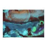 """Imagen abstracta de la lona 36x24"""" del mapa por sa lona envuelta para galerias"""