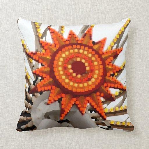 imagen abstracta del resplandor solar almohada