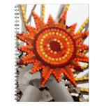 imagen abstracta del resplandor solar libretas