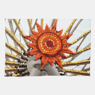 imagen abstracta del resplandor solar toallas de mano