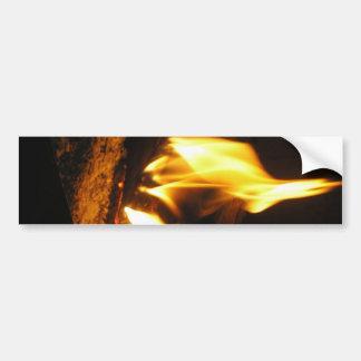 Imagen alegre del fuego de P5230008 casero Etiqueta De Parachoque