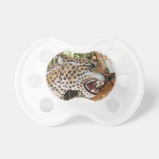 Imagen animal de la cabeza del jaguar del carrusel chupete