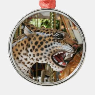 Imagen animal de la cabeza del jaguar del carrusel adornos