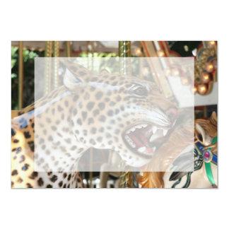 Imagen animal de la cabeza del jaguar del carrusel anuncio
