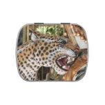 Imagen animal de la cabeza del jaguar del carrusel frascos de caramelos