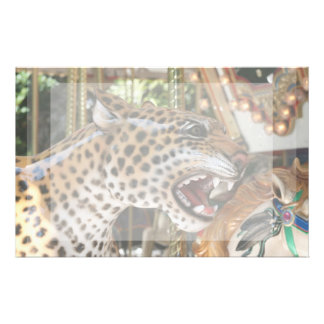 Imagen animal de la cabeza del jaguar del carrusel papelería de diseño