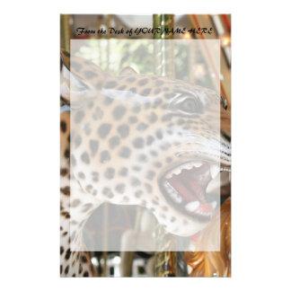 Imagen animal de la cabeza del jaguar del carrusel papeleria personalizada