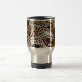 Imagen animal de la cabeza del jaguar del carrusel taza