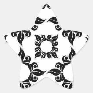 Imagen antigua de la cena pegatina en forma de estrella