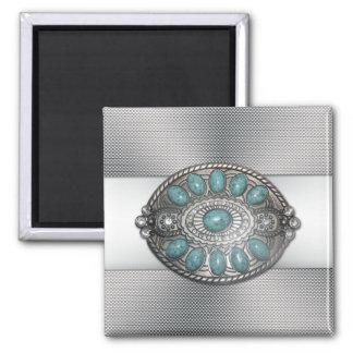 Imagen antigua shinning hermosa de la hebilla del  imán de frigorífico