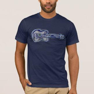 imagen apenada azul de la guitarra playera