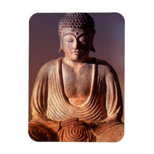 Imagen asentada de Buda Imán De Vinilo
