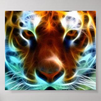 Imagen asombrosa de la lona del tigre poster