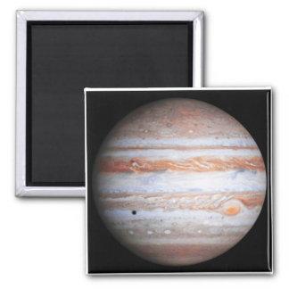 Imagen AUMENTADA de la NASA del flyby de Júpiter Imán Cuadrado
