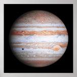 Imagen AUMENTADA de la NASA del flyby de Júpiter Póster