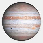 Imagen AUMENTADA de la NASA del flyby de Júpiter Pegatina Redonda