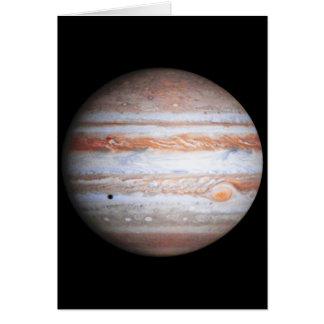 Imagen AUMENTADA de la NASA del flyby de Júpiter Tarjeta De Felicitación