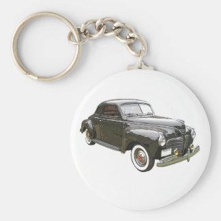 Imagen aumentada Digital de Plymouth negro 1941 Llavero Redondo Tipo Pin