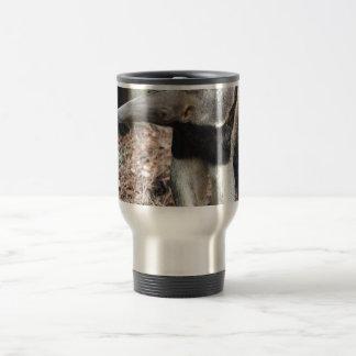 imagen aumentada nariz de la imagen del animal taza de viaje de acero inoxidable