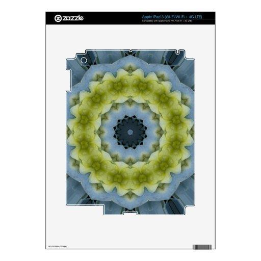 Imagen azul 14 de la mandala del Hydrangea Pegatinas Skins Para iPad 3
