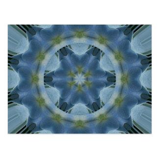 Imagen azul 16 de la mandala del Hydrangea Postal