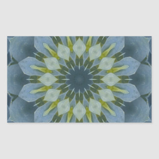 Imagen azul 6 de la mandala del Hydrangea Rectangular Pegatinas