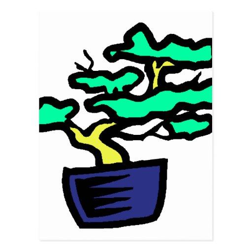 Imagen azul abstracta del gráfico del pote de los  tarjeta postal