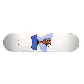 Imagen azul arreglada bonsais del gráfico del pote monopatines personalizados