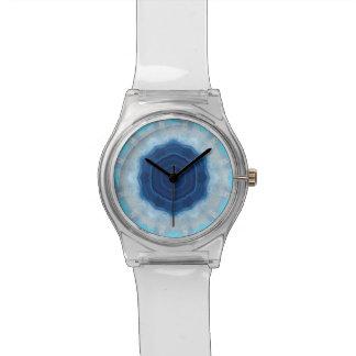 ¡Imagen azul de la ágata que cautiva en el reloj d