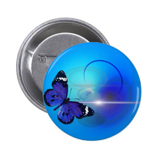 Imagen azul de la mariposa pin