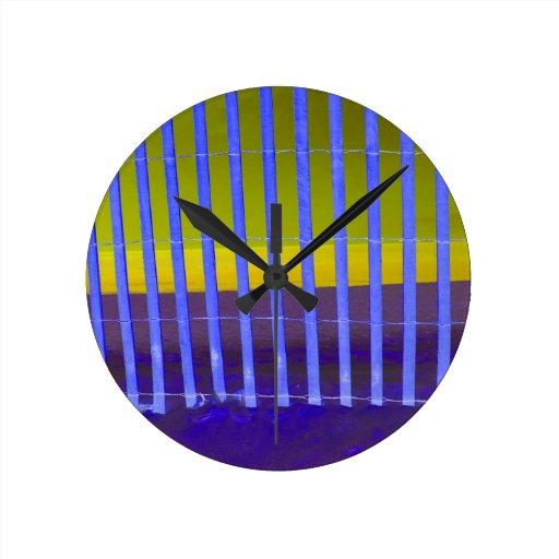 imagen azul de la playa de Yellow Sea de la cerca Reloj De Pared