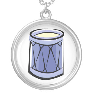 Imagen azul del vintage del extracto del tambor de colgante redondo
