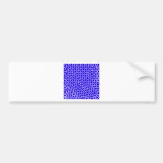 Imagen azul redonda pegatina para auto