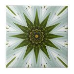 Imagen blanca 10 de la mandala de Coneflower Azulejos Cerámicos