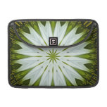 Imagen blanca 9 de la mandala de Coneflower Fundas Para Macbook Pro