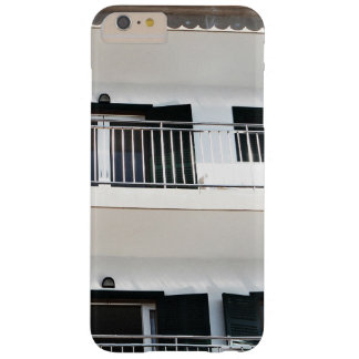 imagen blanca brillante del edificio funda para iPhone 6 plus barely there