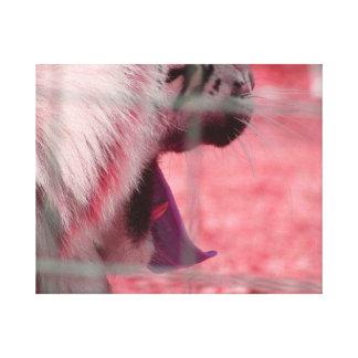 imagen blanca del animal del lado del rosa del bos impresión en lienzo estirada