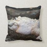 imagen blanca del estilo de la acuarela del cocodr almohada