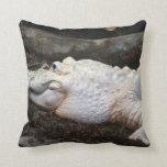 imagen blanca del estilo de la acuarela del cocodr almohadas