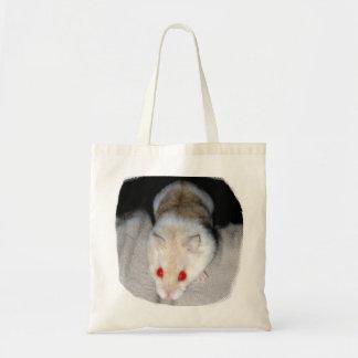 Imagen blanca y rubia del hámster del albino bolsa tela barata