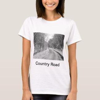 Imagen blanco y negro de la carretera nacional con playera