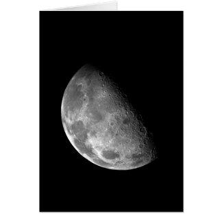 Imagen blanco y negro de la media luna tarjeta de felicitación