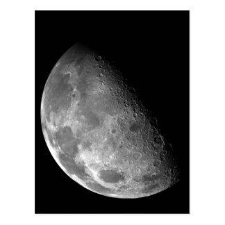 Imagen blanco y negro de la media luna tarjeta postal
