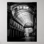 Imagen blanco y negro del mercado Londres de Leade Impresiones