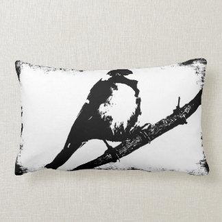 Imagen blanco y negro del pájaro almohada