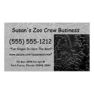 Imagen blanco y negro invertida de la pared del es tarjeta de negocio