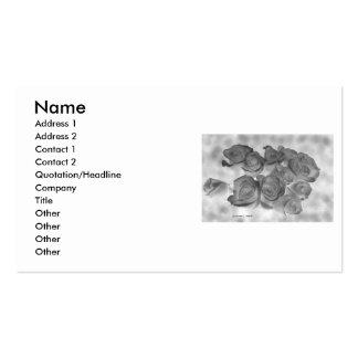 Imagen blanco y negro negativa de rosas tarjetas de negocios