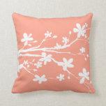 Imagen bonita de la mandarina viva almohada