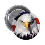 Imagen calva de la Eagle-Libertad Pin